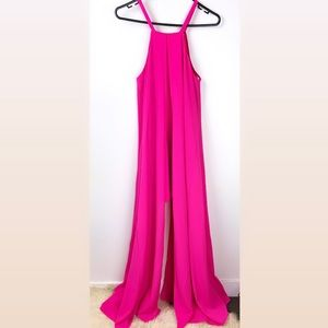 NWT Sheike 10 pink bright vanity maxi dress gown